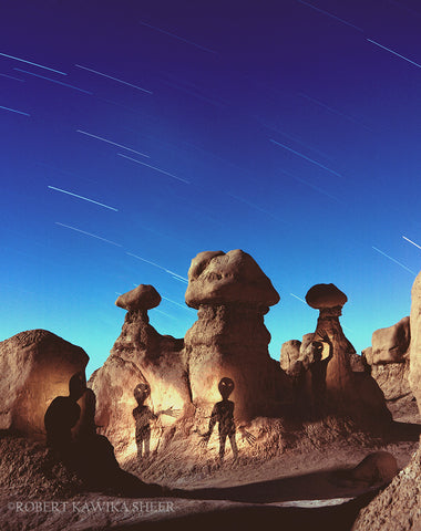 Aliens in Goblin Valley