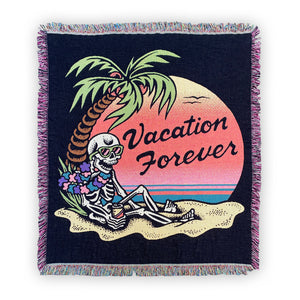 VACATION FOREVER Woven Tapestry