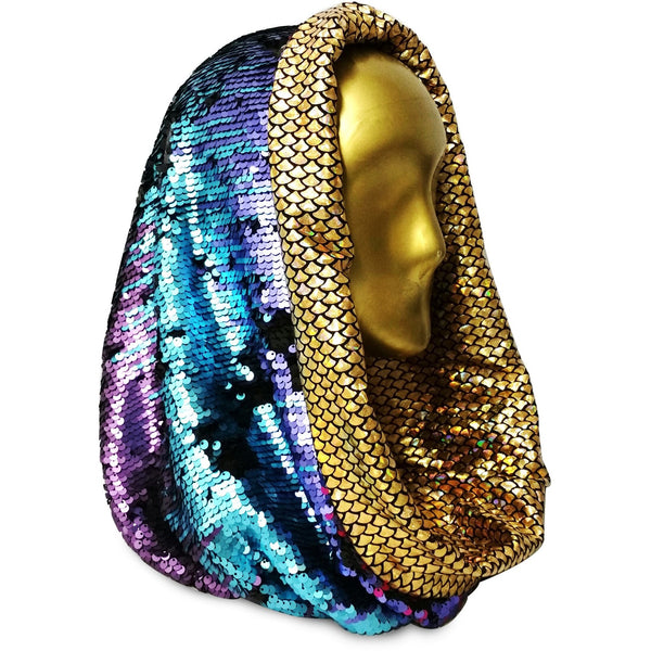Cosmic Cannonball Kaleidoscope with Gorgeous Golden Scales Infinity Hood