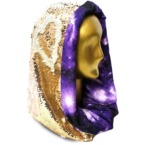 Galactivated Golden Glow with Gorgeous Grape Galaxy Infinity Hood
