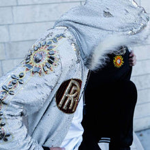 Gold Rolls Royce - Cream Hoodie - Hooded Jacket - Stardust Love Star Jacket
