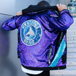 My Mercedes Benz Sparkle Hoodie Jacket - Stardust Love Star Jacket
