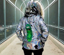 Load image into Gallery viewer, Rick And Morty Hoodie - Pickle Rick Jacket - Stardust Love - Burning Man Jacket - Unisex Anime Hoodie