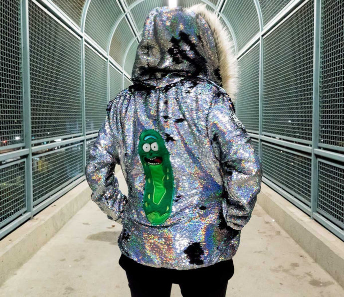 Rick And Morty Hoodie - Pickle Rick Jacket - Stardust Love - Burning Man Jacket - Unisex Anime Hoodie