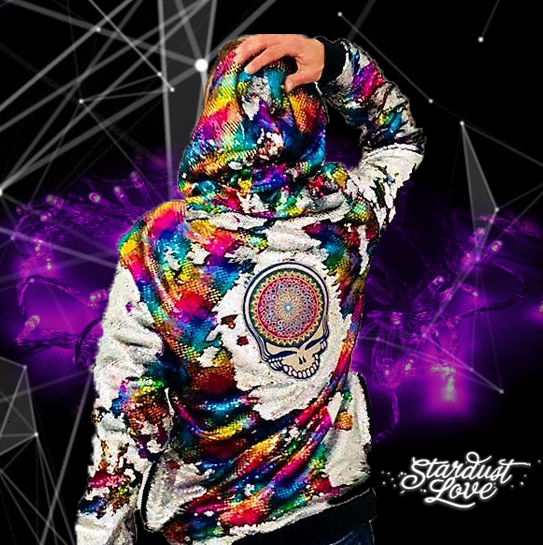 Grateful Dead Hoodie - Steal Your Face - Jam Band Jacket - Deadhead Hoodie