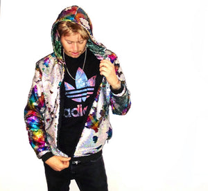 Grateful Dead Hoodie - Steal Your Face - Jam Band Jacket - Rainbow Coat - Stardust Love