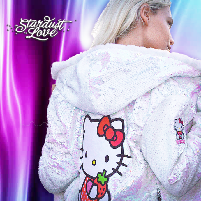 Hello Kitty Hoodie - Hello Kitty Jacket - Sparkle Jacket - Stardust Love Star Jacket