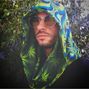 Super Trippy Hippie with Galactivated Green Ganja Infinity Hood - Stardust Love