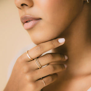 Balia Stacking Rings - Gold Vermeil