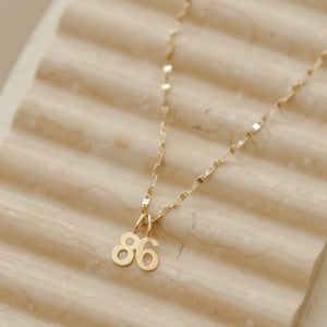 Number 6 Charm - 10k Solid Gold