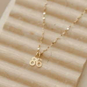 Number 8 Charm - 10k Solid Gold