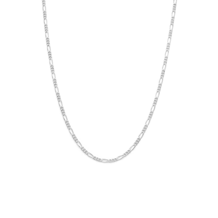 Men's Figaro Chain - Sterling Silver