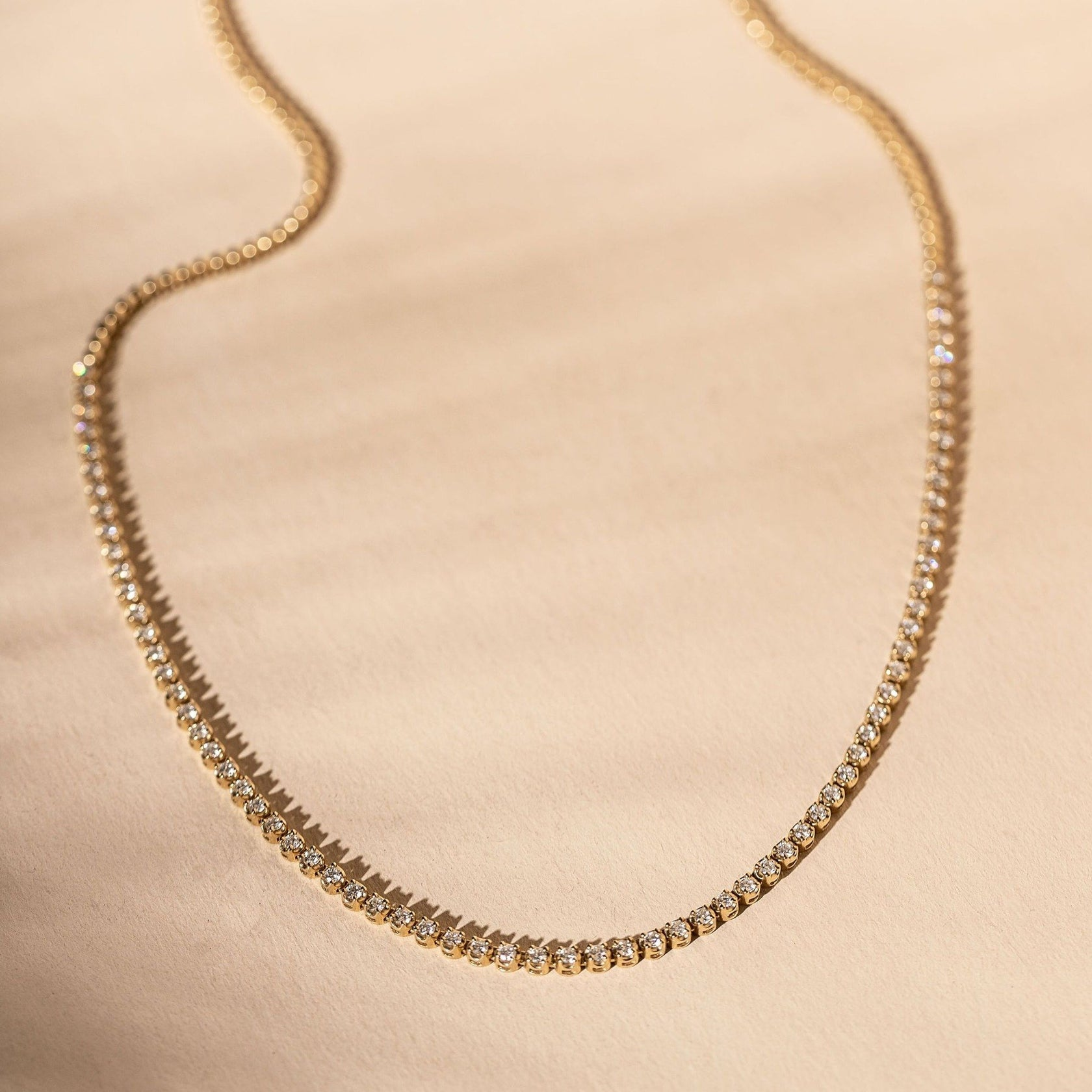 *Made To Order* Demi Diamond Tennis Necklace- 14k Solid Gold