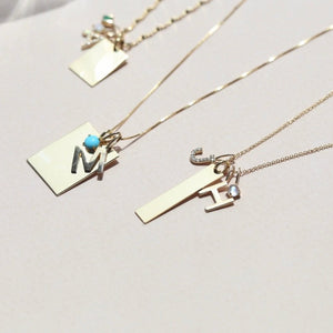 Engravable Bar Charm - 10k Solid Gold