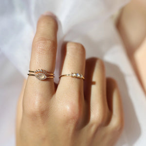 Dainty Arc Ring - Gold Vermeil