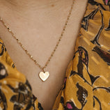 Load image into Gallery viewer, 10mm Heart Charm - 10k Solid Gold