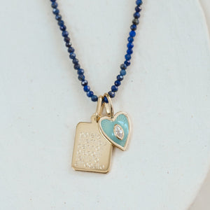 Mini Tag Pendant - Gold Vermeil