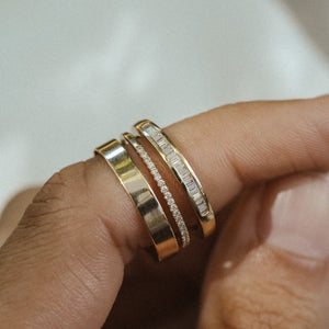 Dainty Harlowe Band - 14k Solid Gold