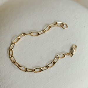 Thick Staple Chain Bracelet - Gold Vermeil