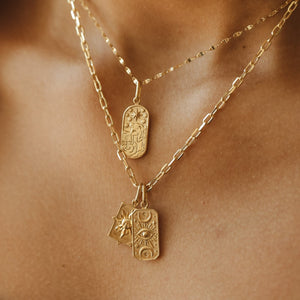 The Star Tarot Pendant - 10k Solid Gold