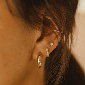 8mm Chubby Hoops - 10k Gold