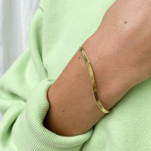 3mm Herringbone Bracelet - Gold Vermeil
