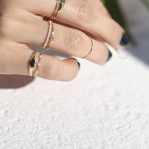 Delicate Band - 14k Solid Gold