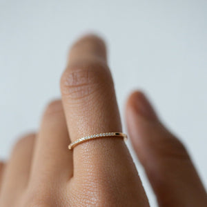 Pave Dainty Band - Gold Vermeil