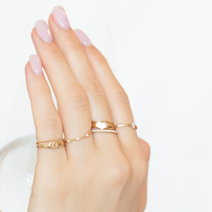 Delicate Twist  Band - 14k Solid Gold