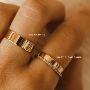 Baby Cigar Band - 10k Gold