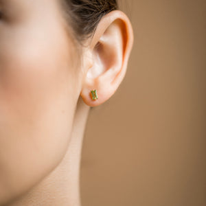 Coveted Peridot Stud - 14k Solid Gold