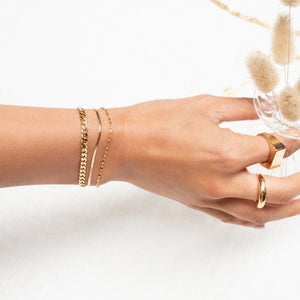 Thick Curb Bracelet - 10k Solid Gold