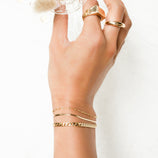 Load image into Gallery viewer, Fancy Chain Bracelet - 10k Solid Gold