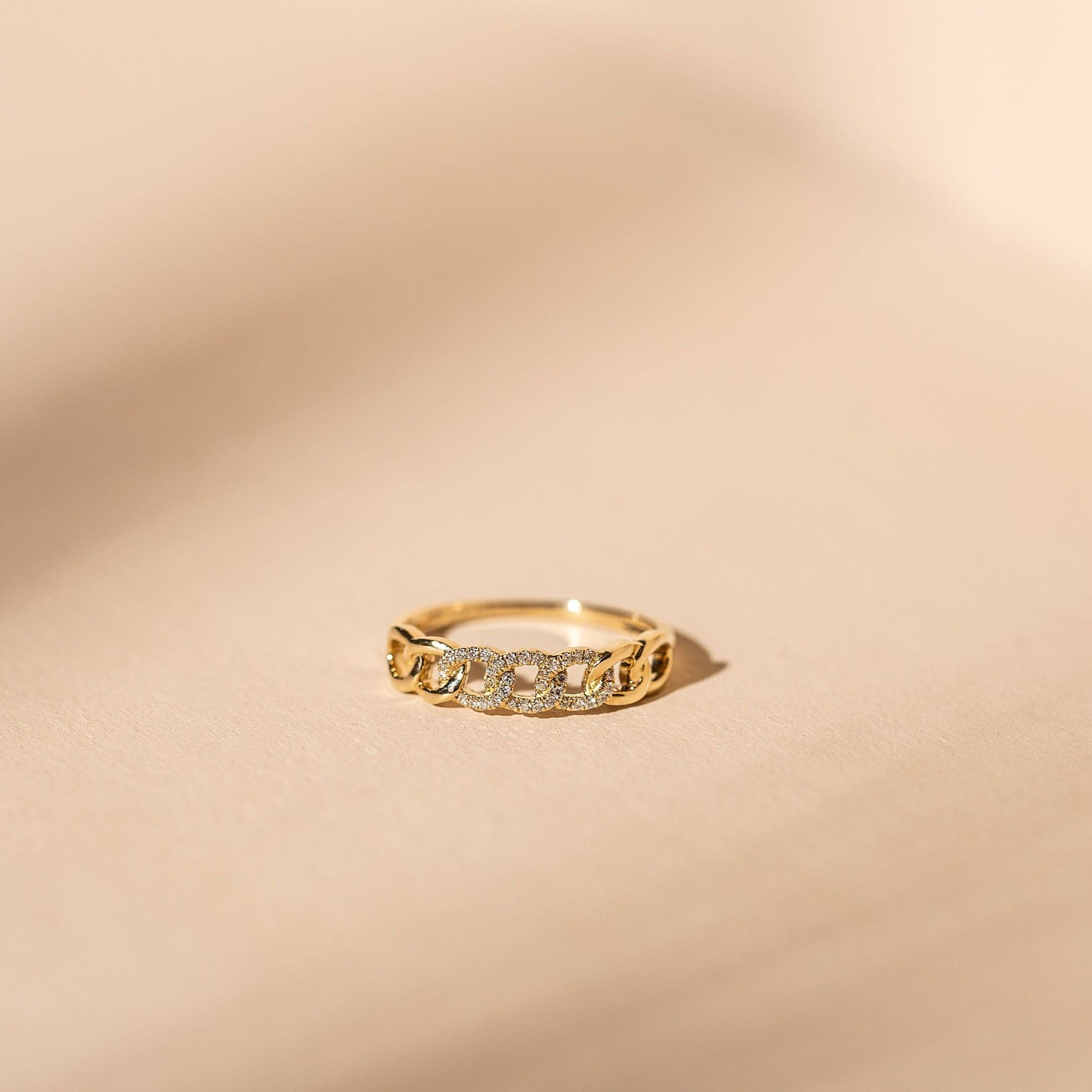 *Made to Order* Pave Love Knot Band - 14k Solid Gold