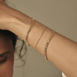 Fancy Chain Bracelet - 10k Solid Gold