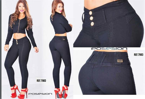 100%  Authentic Colombian  Push Up  Jeans  8376 by Posesion (R)