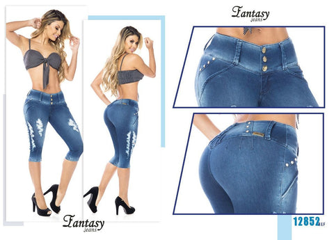 100%  Authentic Colombian Push Up  Jeans 11852 by Fantasy (R)