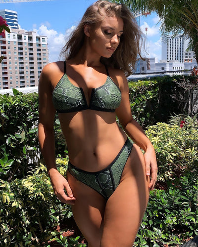 Sameura - Green Snake Skin - Heartbreaker International Two Piece