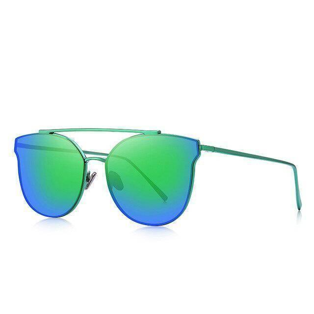 Luxe Gradient Blue/Green Cat Eye Sunglasses - Heartbreaker International - Sunglasses