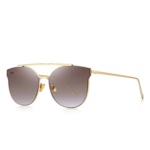Luxe Gradient Brown Cat Eye Sunglasses - Heartbreaker International - Sunglasses