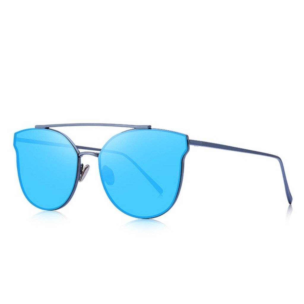 Luxe Blue Cat Eye Sunglasses - Heartbreaker International - Sunglasses