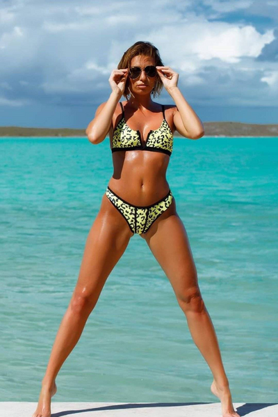 Sameura - Yellow Leopard - Heartbreaker International - Two Piece