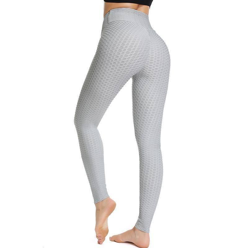 Scrunched Back Honeycomb Performance Leggings - Heartbreaker International - Active