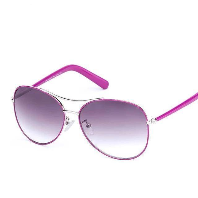 Classic Pilot Purple UV400 Sunglasses - Heartbreaker International - Sunglasses