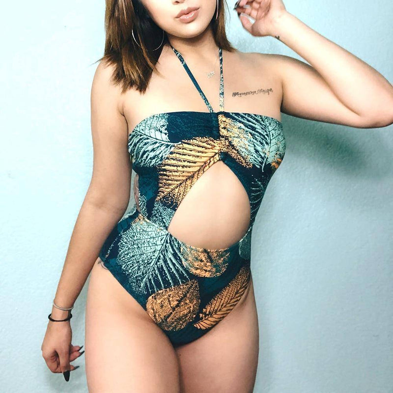 Green And Golden Leaves One-piece - Heartbreaker International [product_type]