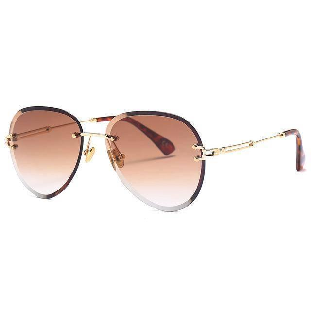 Gold Tinted Aviator Shades UV400 - Heartbreaker International - Sunglasses