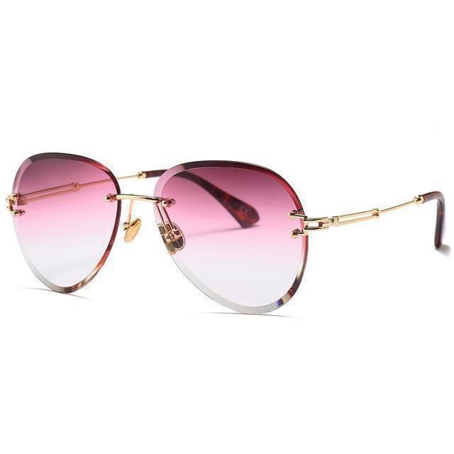 Pink Tinted Aviator Shades UV400 - Heartbreaker International Sunglasses