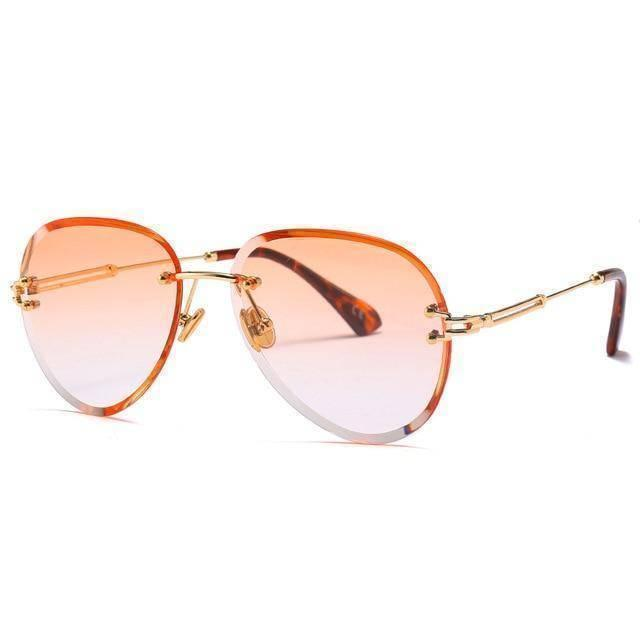 Orange Tinted Aviator Shades UV400 - Heartbreaker International - Sunglasses