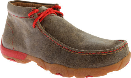 Twisted X Mens Driving Moc D Toe Bomber/Red - silveradowesternwear - 1