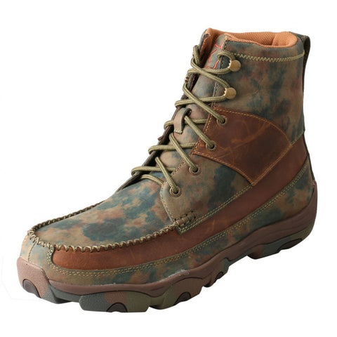 "Twisted X Mens Hiker D Toe TX Camo 6"" Lace Up Shoe (WATERPROOF) - silveradowesternwear"